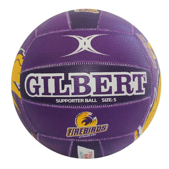 Gilbert Champs Firebirds Supporter Netball 5, , rebel_hi-res