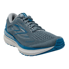 Brooks Glycerin GTS 19 Mens Running Shoes, Grey/Blue, rebel_hi-res