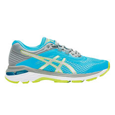 Asics GT 2000 6 D Womens Running Shoes Blue / Silver US 6, Blue / Silver, rebel_hi-res