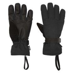 Tahwalhi Mens Chute Ski Gloves Black S, Black, rebel_hi-res