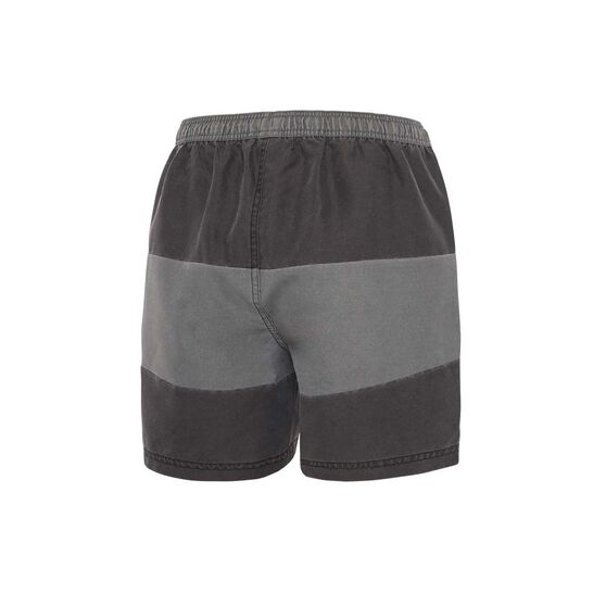 Zoggs Mens Fitzroy 15in Shorts, Black / Grey, rebel_hi-res