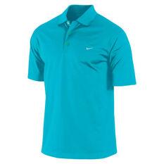 Nike Mens Dri Fit UV Tech Polo Shirt Blue S, Blue, rebel_hi-res