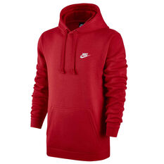 d7a2020e Nike Mens Sportswear Club Fleece Hoodie Red XS, Red, rebel_hi-res ...