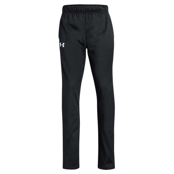 Under Armour Girls Trackpants, Black / White, rebel_hi-res