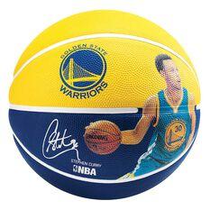 Spalding Stephen Curry Signature Basketball Royal Blue / Gold 7, , rebel_hi-res