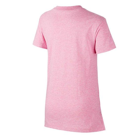 Nike Girls Sportswear DPTL Script Tee, Pink, rebel_hi-res