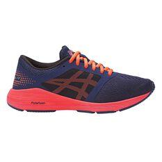 Asics Roadhawk FF Kids Running Shoes Orange / Purple US 4, Orange / Purple, rebel_hi-res