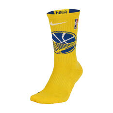 Nike Golden State Warriors 2019/20 Elite Crew Socks Yellow / Blue M, Yellow / Blue, rebel_hi-res