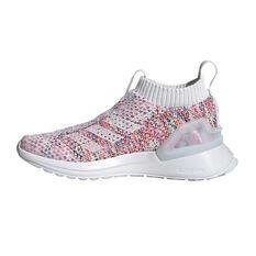 adidas RapidaRun Laceless Knit Kids Running Shoes White / Multi 11, White / Multi, rebel_hi-res