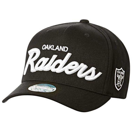 Oakland Raiders Team Script Curved Snapback, , rebel_hi-res