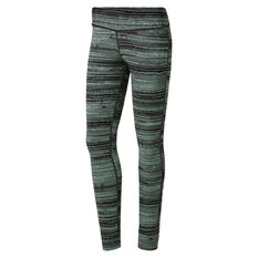 Reebok Womens Lux Tights Green S, Green, rebel_hi-res