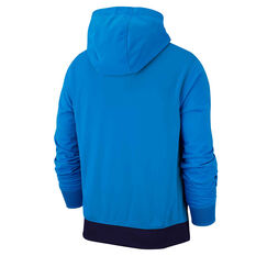 Nike Mens Sportswear 1/2-Zip Hoodie Blue S, Blue, rebel_hi-res