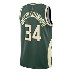 Nike Milwaukee Bucks Giannis Antetokounmpo 2020/21 Mens Earned Jersey Green S, Green, rebel_hi-res