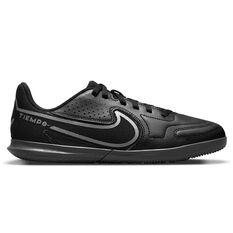 Nike Tiempo Legend 9 Club Kids Indoor Soccer Shoes Black/Grey US 10, Black/Grey, rebel_hi-res