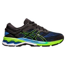 Asics GEL Kayano 26 Mens Running Shoes Black / Blue US 7, Black / Blue, rebel_hi-res