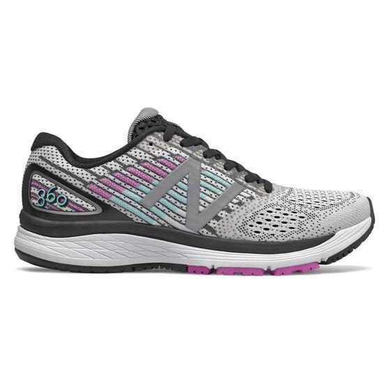 New Balance 860v9 Womens Running Shoes, White / Black, rebel_hi-res