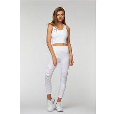 L'urv Womens Infinity Seamless 7/8 Tights White XS, White, rebel_hi-res