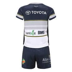North Queensland Cowboys 2020 Infants Home Kit, White / Navy, rebel_hi-res