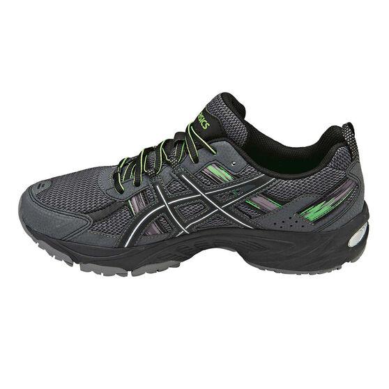4dec0d6645d1 ASICS Gel Venture 5 Mens Trail Running Shoes Charcoal   Green US 7 ...