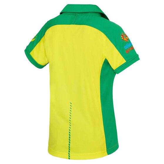 Cricket Australia 2020/21 Kids ODI Replica Shirt Yellow 8, Yellow, rebel_hi-res