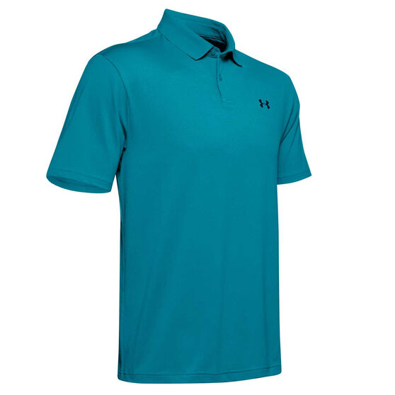 Under Armour Mens Performance Polo Blue S, Blue, rebel_hi-res