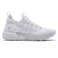 Under Armour Project Rock 3 Womens Training Shoes, White, rebel_hi-res