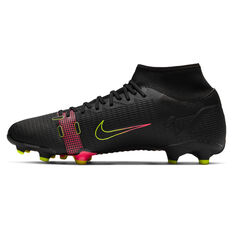 Nike Mercurial Superfly 8 Academy Football Boots Black US Mens 4 / Womens 5.5, Black, rebel_hi-res