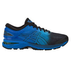 Asics GEL Kayano 25 Mens Running Shoes Black / Blue US 7, Black / Blue, rebel_hi-res