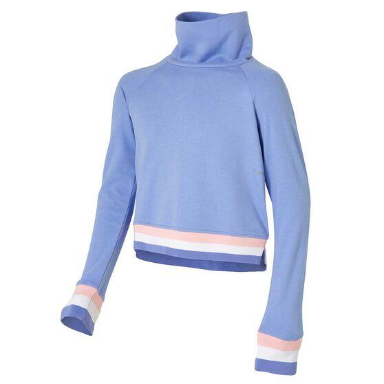 Ell & Voo Girls Rocky Cropped Sweatshirt, Purple, rebel_hi-res
