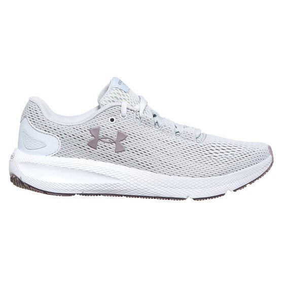 Under Armour Charged Pursuit 2 Womens Running Shoes, Grey, rebel_hi-res