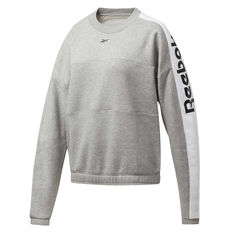 Reebok Womens MYT Crew Sweatshirt Grey XS, Grey, rebel_hi-res