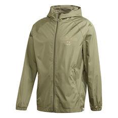 adidas Mens Brilliant Basics Windbreaker Jacket, Green, rebel_hi-res