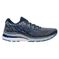 Asics GEL Kayano 28 Knit Mens Running Shoes Grey/Blue US 8, , rebel_hi-res