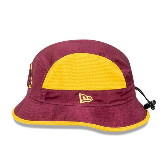 Brisbane Broncos 2021 New Era Official On Field Bucket Hat Maroon M / L, Maroon, rebel_hi-res