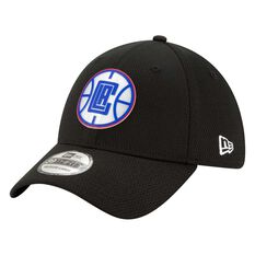 Los Angeles Clippers New Era 9FORTY Back Half Stretch Snap Cap Black S / M S / M, Black, rebel_hi-res