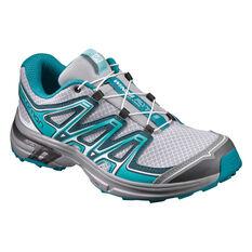 Salomon Wings Flyte 2 Womens Trail Running Shoes Grey / Teal US 6.5, Grey / Teal, rebel_hi-res