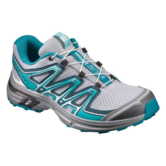 6761d1fe7f95 Salomon Wings Flyte 2 Womens Trail Running Shoes Grey   Teal US 7.5 ...