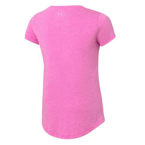 Under Armour Girls Sportstyle Tee, Pink, rebel_hi-res