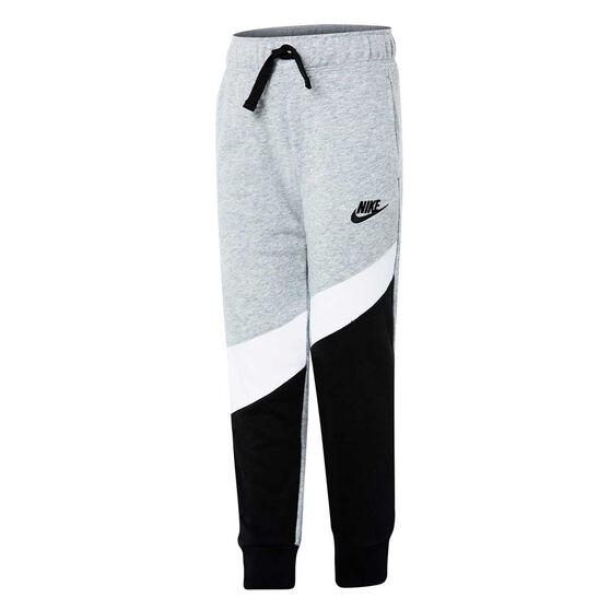 Nike Boys French Terry Knit Pants, Grey / Black, rebel_hi-res