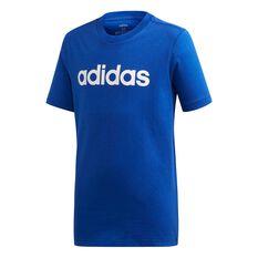 adidas Boys Essentials Linear Tee Royal Blue / White 6, Royal Blue / White, rebel_hi-res