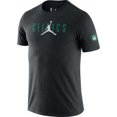 Boston Celtics Courtside Mens Jordan NBA Tee Black S, Black, rebel_hi-res