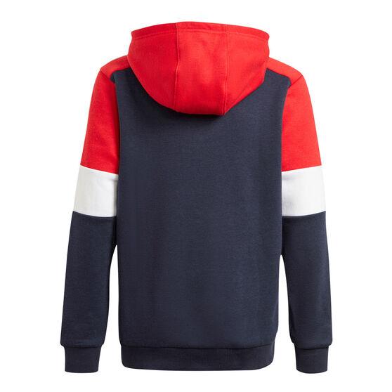 Adidas Boys Colourblock Hoodie, Navy, rebel_hi-res