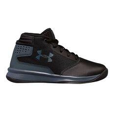 Under Armour Jet 2017 Junior Boys Basketball Shoes Black / Grey US 11, Black / Grey, rebel_hi-res