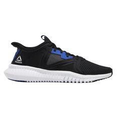 Reebok Flexagon 2.0 Mens Training Shoes Black / Blue US 7, Black / Blue, rebel_hi-res