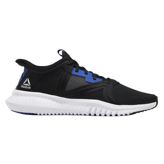 Reebok Flexagon 2.0 Mens Training Shoes, Black / Blue, rebel_hi-res