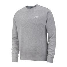 Nike Sportswear Mens Club Sweatshirt Grey XS, Grey, rebel_hi-res