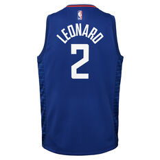 Nike Los Angeles Clippers Kawhi Leonard 2019/20 Kids Icon Edition Swingman Jersey, Blue, rebel_hi-res