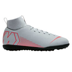 Nike Mercurial Superflyx VI Club Junior Touch and Turf Boots Grey / Black US 5, Grey / Black, rebel_hi-res