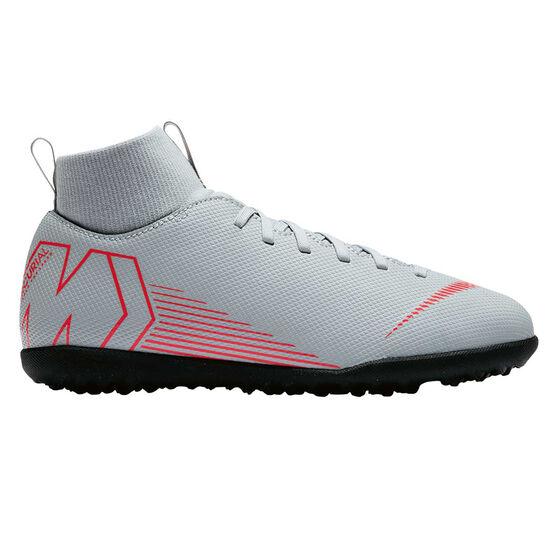 Nike Mercurial Superflyx VI Club Junior Touch and Turf Boots, Grey / Black, rebel_hi-res