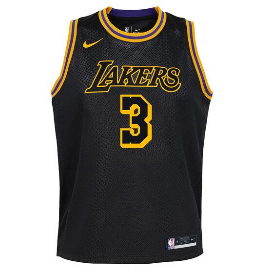 Nike Los Angeles Lakers Anthony Davis 2020/21 Kids Mamba City Edition Jersey, Black, rebel_hi-res